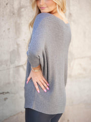 Long Sleeve Ribbed Tunic