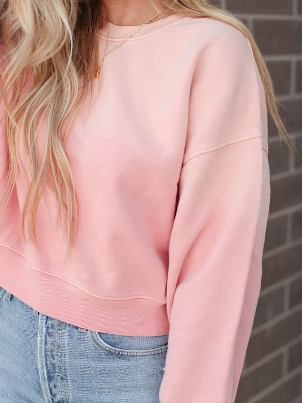 AGOLDE Cropped Faded Sweatshirt