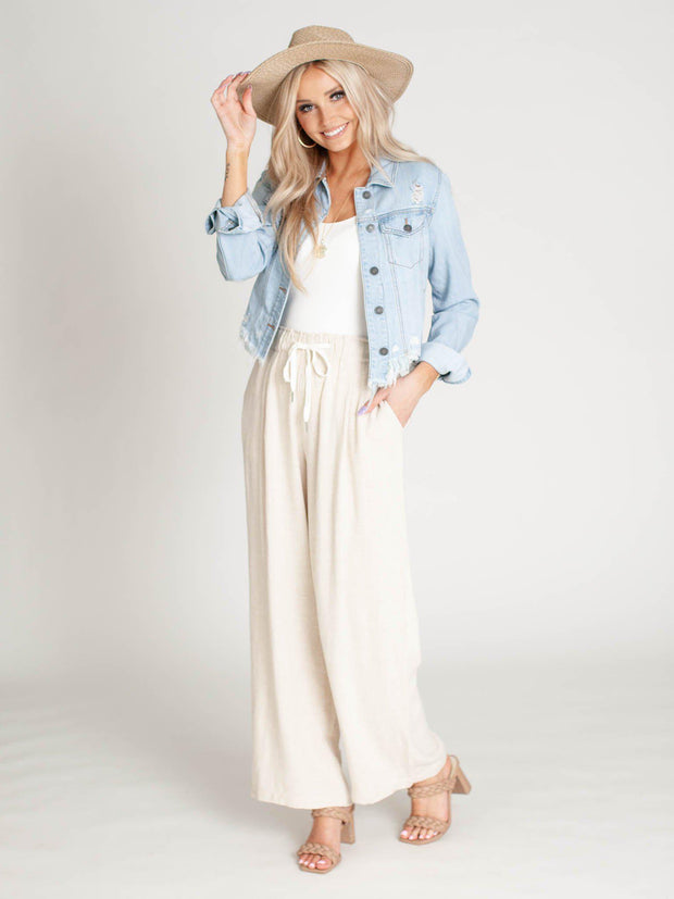 linen blend neutral pants