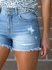 KanCan High Rise Distressed Shorts