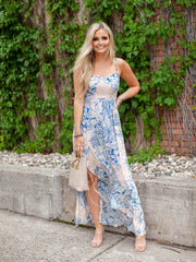 Free People Ruffle Hem Maxi Dress