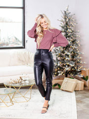 bb Dakota faux leather pants