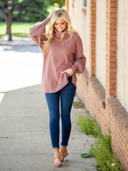 Chunky Tunic Turtleneck