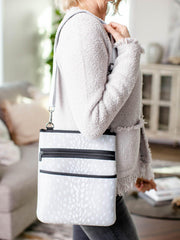 zip detail crossbody bag