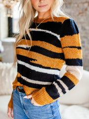 heartloom fitted colorful sweater