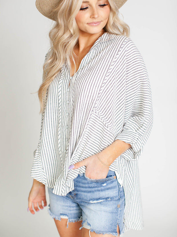 oversized hi low shirt