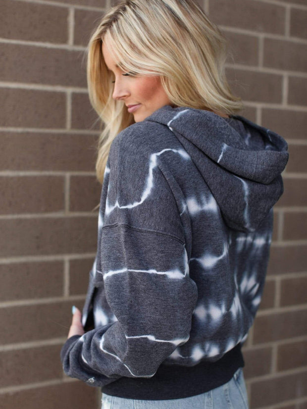 Hooded Free People Tie Dye Sweatshirt