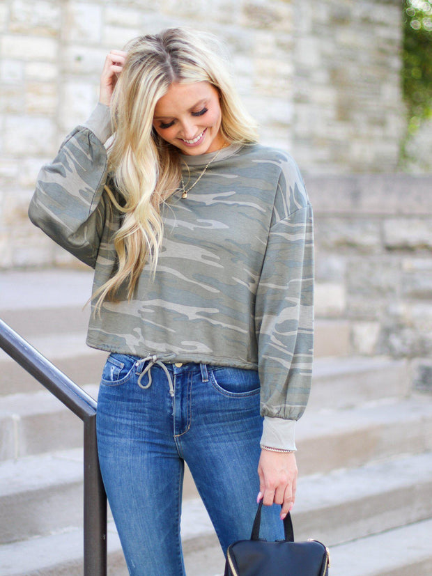 Cropped Camo sweater
