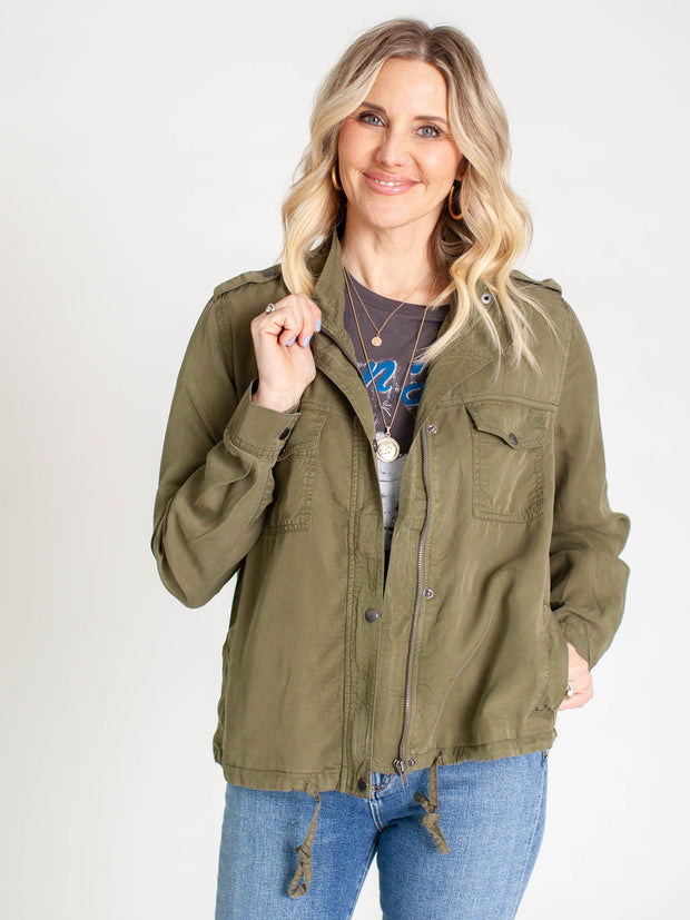olive casual coat