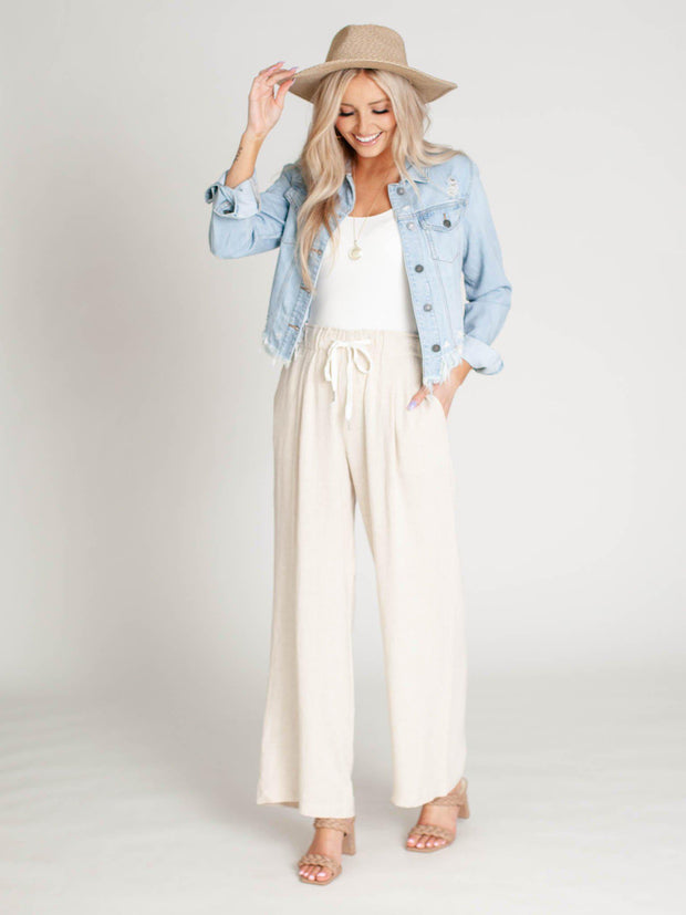 neutral Vintage Havana wide leg pants
