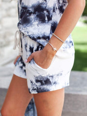 Tie-Dye Side Seam Pocket Shorts