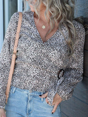 Gentle Fawn Oasis Long Sleeve Wrap Top