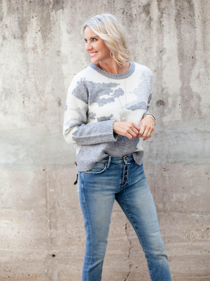 Neutral Crew Neck Sweater