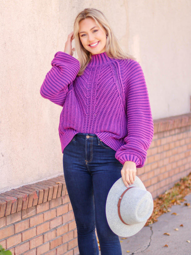 free people glowing orchid sweater