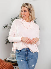 free people cropped drape sweater