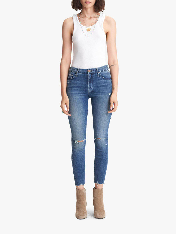 MOTHER Destructed High Rise Skinny Jean