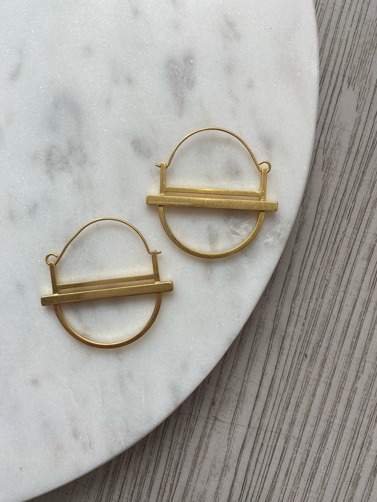 Scout Refined Earring Saturn Hoop Collection