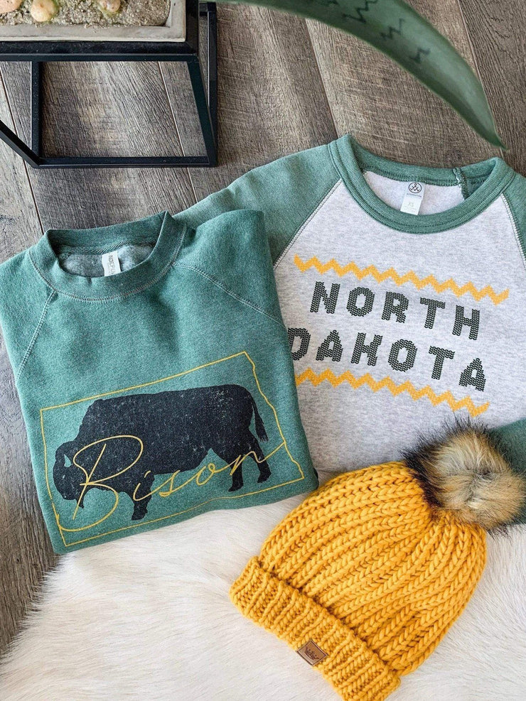 Bison green sweatshirt