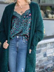 dark green free people sweate