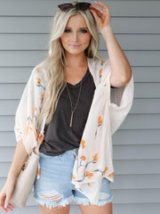 Gentle Fawn Tranquil Floral Kimono