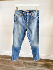 Joe's Jeans Charlie Ankle Exposed Button Cut Hem