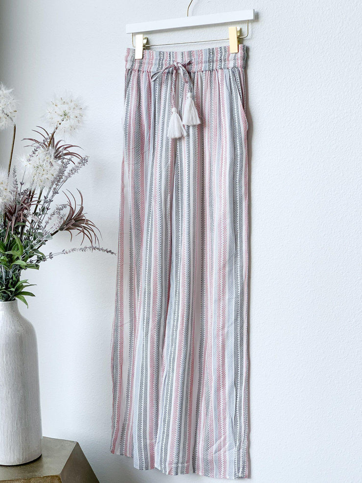 Multi Stripe Tassel Soft Pant
