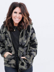 Barefoot Dreams Cozy Camo Zip Up
