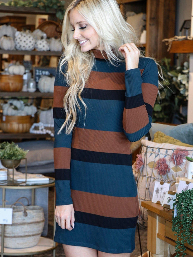 Sanctuary striped turtleneck dress