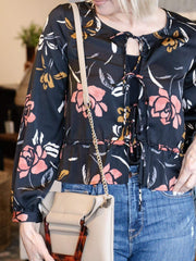 Saltwater Luxe Triple Tie Floral Blouse