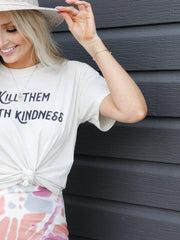 Kill Them With Kindness Washed Jersey Top