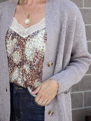 super soft button front cardigan