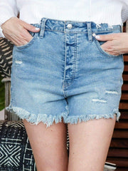 Free People Distressed Fray Short