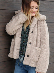 Dylan teddy button front coat