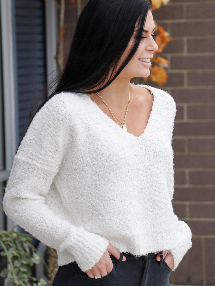 ivory finders keepers free people sweater