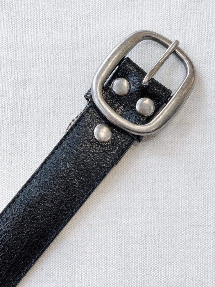 Solid Oval Buckle Belt