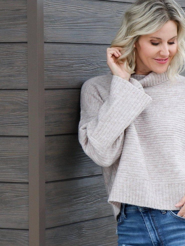 gentle fawn ribbed turtleneck sweater