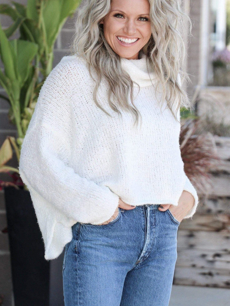 ivory free people sweater