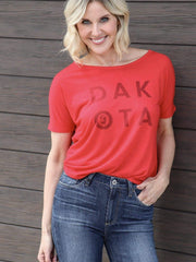 red nodak tee