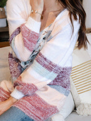 Gentle Fawn Oversized Textured Stripe Cardigan
