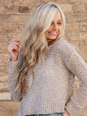 bb Dakota cropped oatmeal sweater