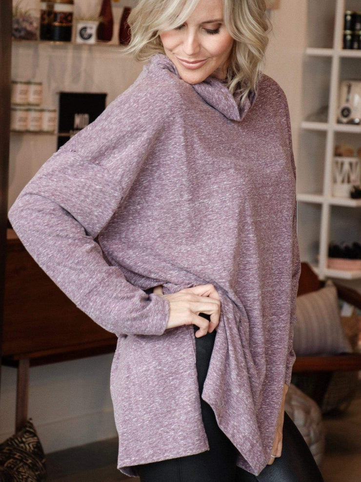 tunic cowl side slit top