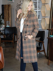 plaid trench coat ASTR