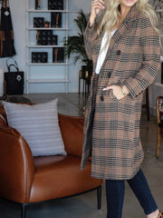 trench long coat ASTR plaid