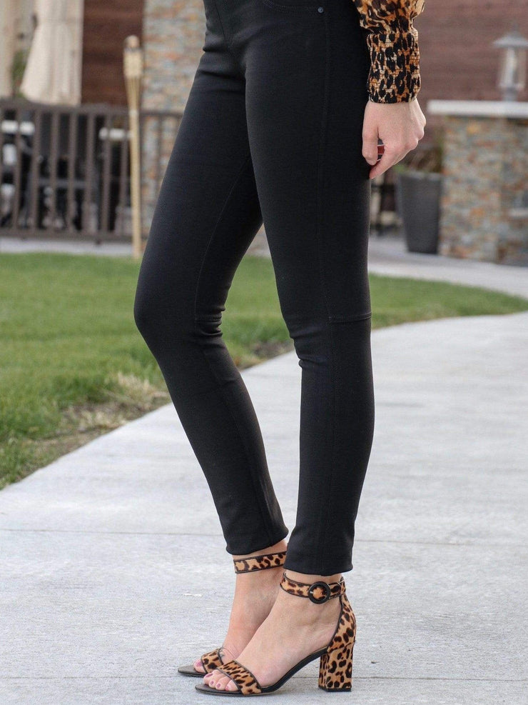 black grease legging pant