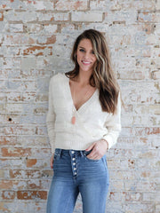 ASTR Madeline Textured Wrap Sweater