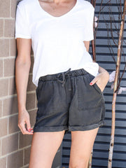 grey casual short