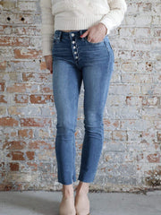 Paige High Rise Exposed Fly Denim