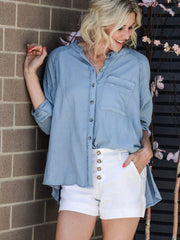 Free People chambray shirt
