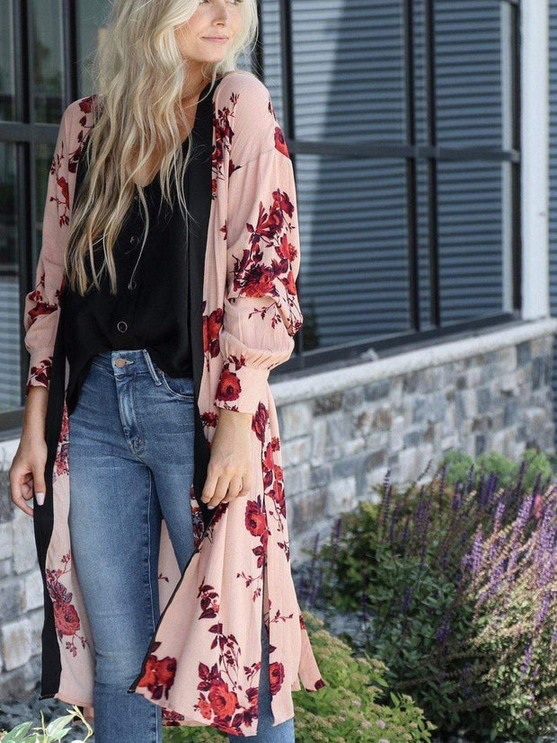 blush lightweight cardigan