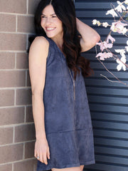 v neck navy dress
